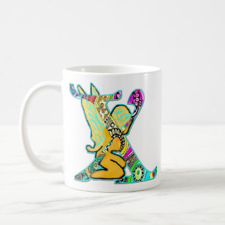 Fairy Letter X with personalized name Coffee Mug