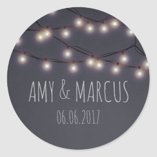 Fairy lights wedding sticker