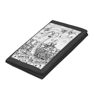 Fairy living forest trifold wallets