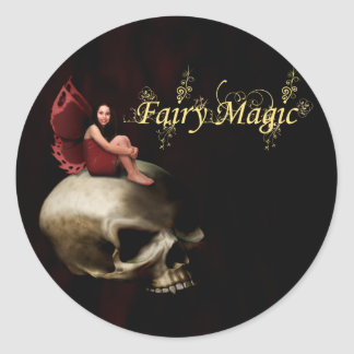 Fairy Magic Halloween Fairy Classic Round Sticker