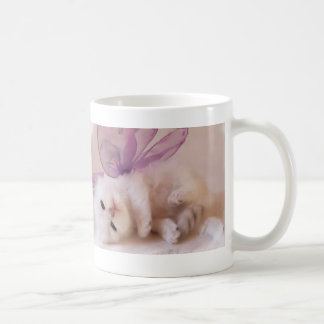 Fairy magnetic cup of white cat