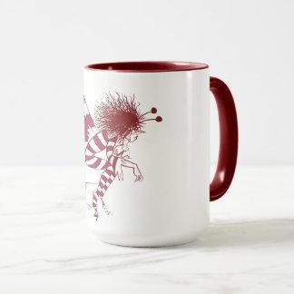 Fairy Male Fantasy Deep Red Stripes Hand Drawn Mug