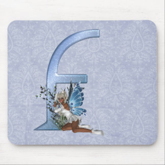 Fairy Monogram F Mouse Pad