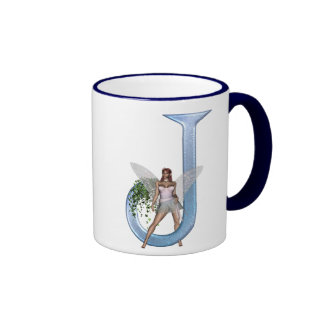 Fairy Monogram J Ringer Mug