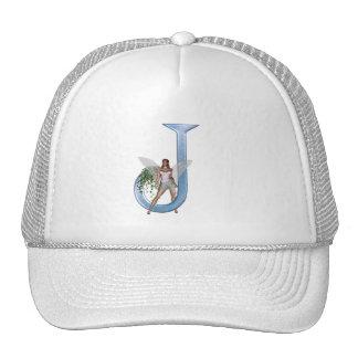 Fairy Monogram J Trucker Hat