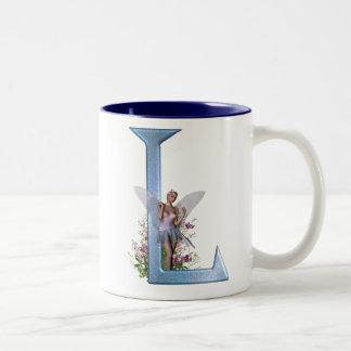 Fairy Monogram L Two-Tone Coffee Mug