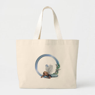 Fairy Monogram O Large Tote Bag