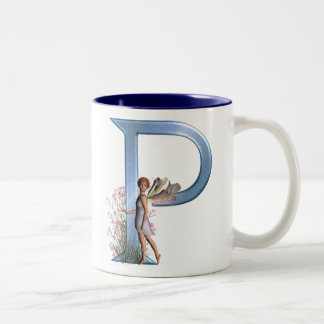 Fairy Monogram P Two-Tone Coffee Mug