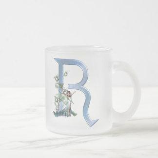 Fairy Monogram R Frosted Glass Coffee Mug