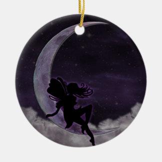Fairy Moon Ceramic Ornament
