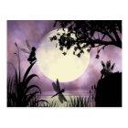 Fairy moonlit pond postcard