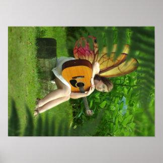 Fairy Musician Poster