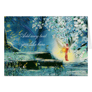 Fairy night lit card