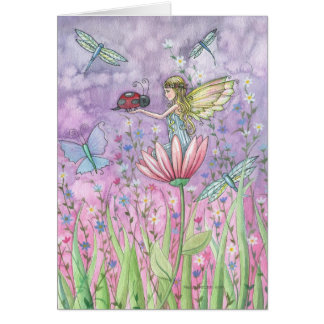 Fairy Notecard Greeting Card by Molly Harrision