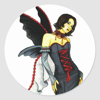FAIRY OF DARKNESS CLASSIC ROUND STICKER