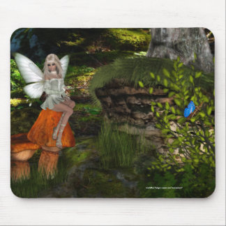 Fairy on a Mushroom Design 2 Mousepad
