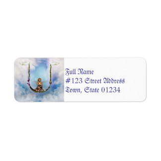 Fairy on a Swing  Return Address Mailing Labels