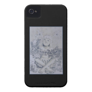 Fairy. On Black. iPhone 4 Case-Mate Cases