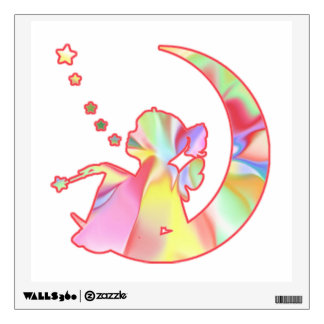Fairy On the Moon With a Magic Wand Wall Decal