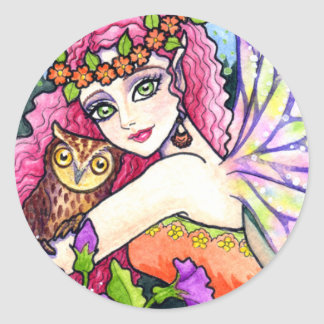 Fairy & Owl Stickers by Ann Howard