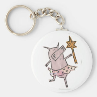Fairy Pig Keychain