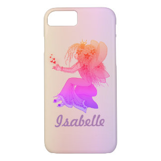Fairy Pink Girly Cute Cartoon Fantasy Personalized iPhone 8/7 Case