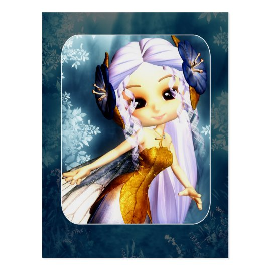 Fairy Post Card - Cute Fantasy Fairy Post Card