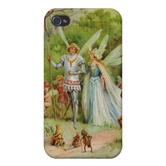 Fairy Prince and Thumbelina in the Magic Wood iPhone 4 Cases