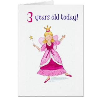 Fairy Princess 3rd Birthday Card
