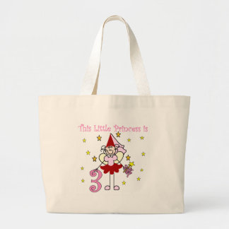 Fairy Princess 3rd Birthday Large Tote Bag