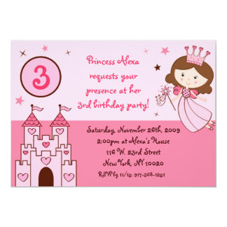 Fairy Princess Castle Custom Birthday Invitation