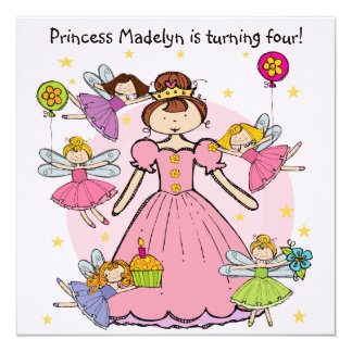 Fairy Princess Customized Birthday Invites