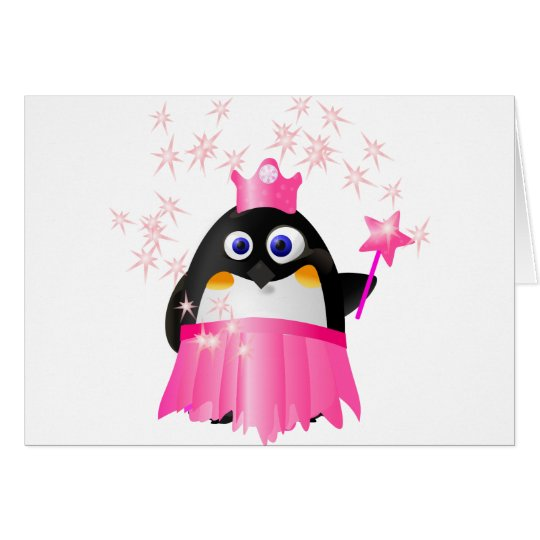 Fairy Princess Penguin Card