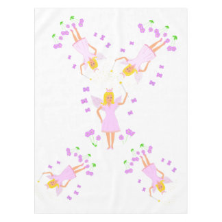 Fairy Princess, pink and pretty, option add name Tablecloth