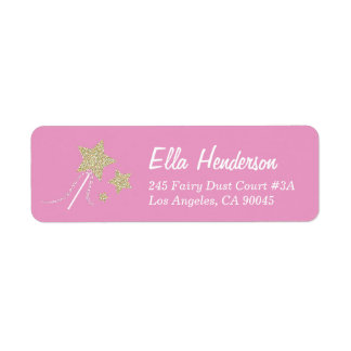 Fairy Princess Wand Return Address Labels