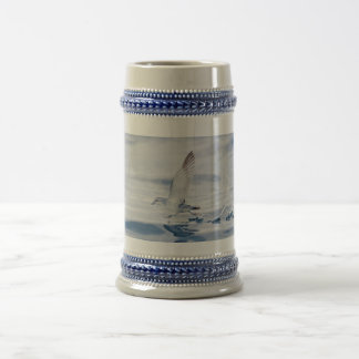 Fairy Prion Pachyptila Turtur Sea Bird Running Beer Stein