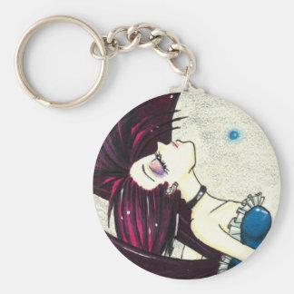 fairy punk goth/ basic round button keychain