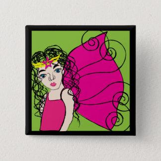 Fairy Queen 2 Inch Square Button