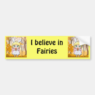 Fairy Rabbit girl Bumper Sticker