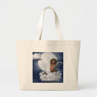 Fairy Rest on a Cloud Large Tote Bag
