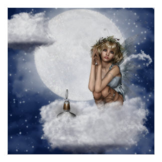 Fairy Rest on a Cloud Poster