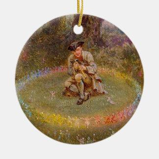 Fairy Ring Ceramic Ornament
