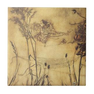 Fairy s Tightrope by Arthur Rackham Vintage Art Tile