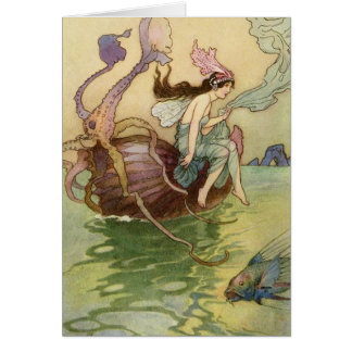 Fairy Sailing a Nautilus Shell, Card