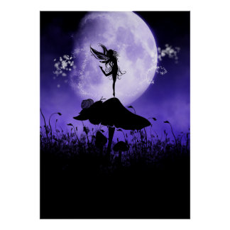 Fairy Silhouette 2 Poster