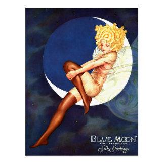 Fairy Sitting On Blue Moon Vintage Fine Art Postcard