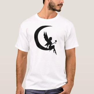 Fairy Sitting On Moon Crescent Apparel T-Shirt