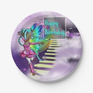 "Fairy Sparkle Birthday Paper Plates 7"""