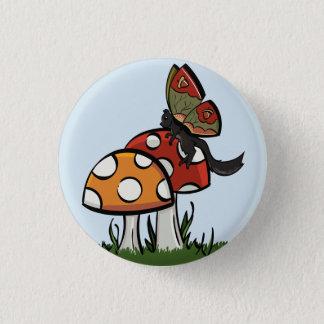 Fairy Squirrel with Mushrooms 1 Inch Round Button