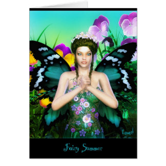 fairy summer card